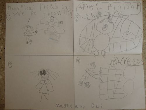 Maggie's first comic strip